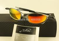 100% UV protection men women sports juliet sunglasses polarized metal frame ruby iridium 5.6mm in original case
