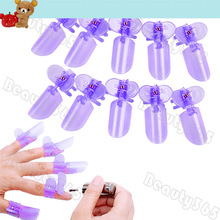New 10pcs/lot Purple Nail Protector Clip, Nail Care Manicure Finger Nail Art Design Tips Cover Polish Shield Freeshipping 4512(China (Mainland))