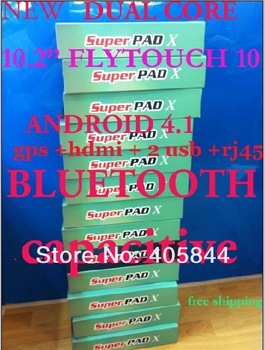 New flytouch 10 tablet pc 10.2'' Android 4.1 tablet GPS capacitive screen  1g ram 8G bluetooth ! Flytouch 8 upgrade version