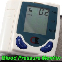 10 PCS Digital LCD Wrist Cuff Arm Blood Pressure Monitor Heart Beat Meter Machine