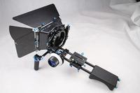 Free shipping Professional DSLR RIG movie kit shoulder Mount rig ST-5+followfocus+matte box