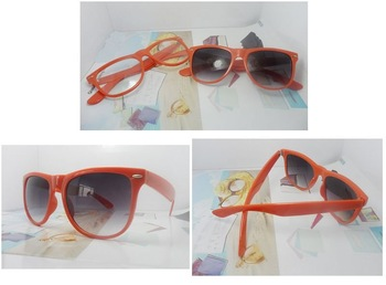 Whosale/retail,17pcs/lot,cheap price plastic sunglass(smoke lens& clear lens) ,designer style eyeglasses with metal hinge