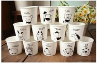 Free shipping lovely 12pcs/lot anmial ceramic mugs/ coffee mugs/ milk mugs, perfect gift A0013