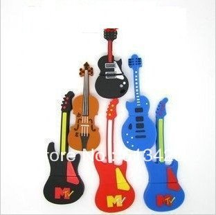 wholesale 30pcs/lot genuine 1GB/2GB/4GB/8GB/16GB/32GB electric guitar shape usb flash drive(China (Mainland))
