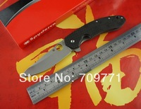 spyderco C156 carbon fibre+titanium alloy handle folding knife 9cr13mov blade outdoor knife 60HRC pocket knife FREE SHIPPING