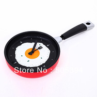 Creative Omelette Fry Pan Kitchen Fried Egg Design Wall Clock Decor#8698
