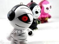 Cute Music Monster Novelty Series Mini Speakers Wholesale 4pcs/Lot Free Shipping