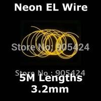 Neon EL Wire 5m with Battery inverter 3.2mm diameter