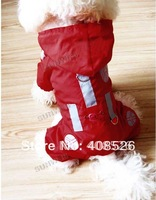 15PCS High Fashion Raing coat/Dog raincoat/Pet coat/Pet clothes S/M/L/XL 2 Colors free shipping 5624