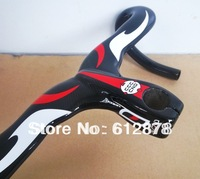 Wholesale !  Full carbon road carbon handlebar integrated with stem 28.6mm