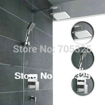 "luxury  8"" shower head  bathroom  shower Faucet  set chrome  finish competitive price  ZB02"