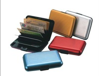 10 pcs Free shipping Aluminum Wallet Credit Card Holder 6 colors optional HM051