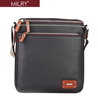 Brand Milry 100% Genuine Leather shoulder Bag for Men messenger bag cross body bag real cow leather bag S0067-2