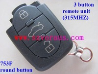 VW  remote smart  key unit 3 button  315Mhz ,  753F, round button  (free shipping)