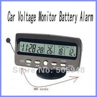 New Car Voltage Monitor Battery Alarm with Adjustable Stand Clock Display Free Shipping