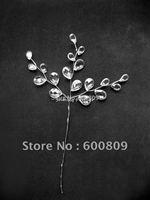 50X clear acrylic crystal drops on silver stem wedding favour Floral Craft Supplies Wedding decoration