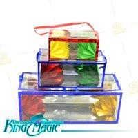 Flower Boxes Production(medium)-FREE SHIPPING-King magic tricks toys wholesale