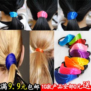 Wholesale free shipping 10pcs/lot New  12 Color Rope Elastic Girl's Hair Ties Bands Headband hair Strap Hair Band