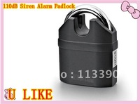 EMS is china post free shippment 110dB siren  alarm lock for door and bicycle alarm padlock electroplate alarm lock