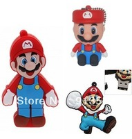 Best selling super mario shape USB Flash drive disk Memory 2GB 4GB 8GB free shipping