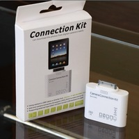 5+1 in 1 Camera Connection Kit with Card Reader for iPad - White (USB/SD/TF/MS/M2/MMC)