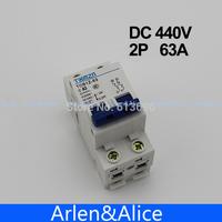 2P 63A DC 440V  Circuit breaker MCB