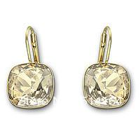 Free Shipping Austrian Sheena Crystal Golden Shadow Pierced Earrings Wholesale