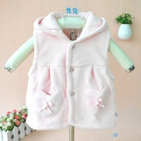 Free shipping Autumn/winter new products show Super baby coral fleece continually Hat vest for children baby vest