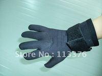 Professional high quality neoprene,nylon cloth diving glove