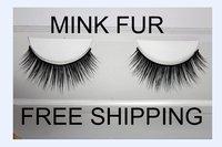 100% real Strip Mink lashes False Individual Eyelashes with box  free shipping fake Eyelash extensions Handmade Makeup tools 003