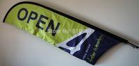 printed both sides beach flag, 60X240CM, 16pcs  + vinyl banner +backlit banner