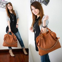 2013 NEW Korean Style Lady Totes Faux Leather Handbag Shoulder Bag Weaved Handbag  C030