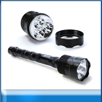 Free shipping 1PC Trustfire 3T6 Flashlight CREE T6 LED 5 Mode 3800 Lumen High Power Camping Tactical Safety Torch+Extended Tube