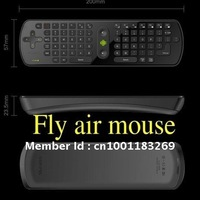 Free Shipping RC11 2.4G Mini Wireless Keyboard Mouse Remote Controller With Gyroscope For Android 4.0 Google TV Box