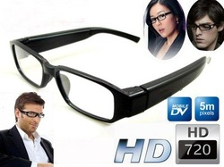 New 720P HD Hidden Camera Glasses Fashion Eyewear DVR Camcorder Video Recorder 5m pixels sample(China (Mainland))