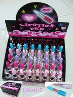(576 pcs)Crystal lipstick ballpen,Bling bling lipstick pen,Jeweled lipstick shape pen,
