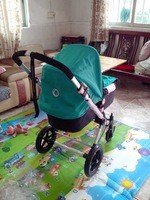 hot-sell Bugaboo cameleon stroller with light-green top and black base,with silver frame, bugaboo stroller, easy for folding