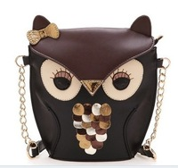 New Hotsale    women leather handbag cartoon bag owl fox shoulder bags women messenger bag