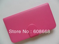 Flip Leather Case with Credit Card Holder/Slot Magnetic Folio Cover for Samsung Galaxy S3 S III I9300 Free Shipping 100pcs