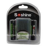 Soshine Li-ion 18650 Protected Battery: 2900mAh