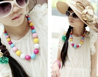 Free Shipping,Wholesale(24pcs/lot)Cute Kids Acrylic Bead Necklace