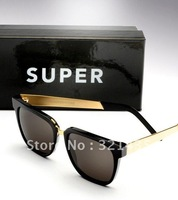 Super People Black & Gold  Sunglasses Free Shipping