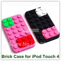 Free Shipping 20PCS Cool 80s Retro Case Brick Protective Case iPod Touch 4 Free Shipping