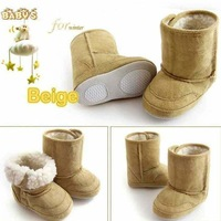 Free shipping 1 Pair Retail snow baby boots baby shoes Infant Shoes size:11-14CM suit for 6-18 Month