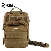 Brand:ROGISI Outdoor Bag Camping Material:Cordura Men Women  Army  Top  Chest Bag Color:Black/Brown Retail Size:21*13*32CM