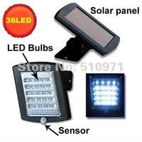 36LED Solar PIR Sensor Light Bright LED bulbs Updated solar panel solar outdoor motion sensor lamp