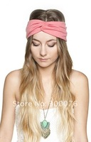Twist knot headband stretch lycra turban ealstic hair band headbands