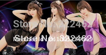 Hot Sweety Women Sexy open bra lace Lingerie Dress Babydoll + G-String Nude #0014 Factory