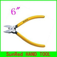 """SunRed BESTIR taiwan original Japan style size 6"""" soft wire cutter Cr-V steel forged plastic and soft wire plier NO.13203"""