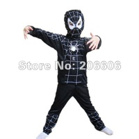 Free shipping best selling spiderman halloween costume for kids  black/red  S/M/L